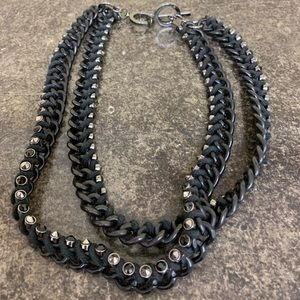 Studded HeavyChained necklace